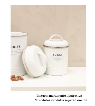 Porta Condimentos Copenhagen - Sugar Branco 1000ml - Yoi