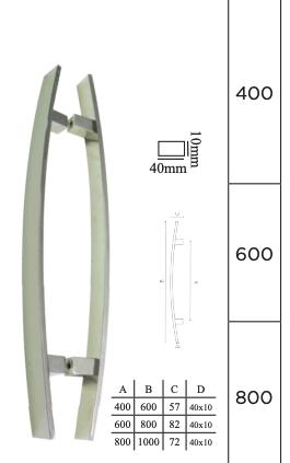 Puxador para Porta em Aço inox polido - DF 925-202- Italy Line