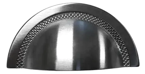 Puxador Shell 48mm - Níquel Escovado c/ Verniz - Zen Design