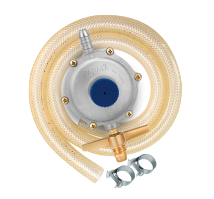 Regulador de Gás 2kg/h com Mangueira de 1,2m - 906P1M12 - Papaiz