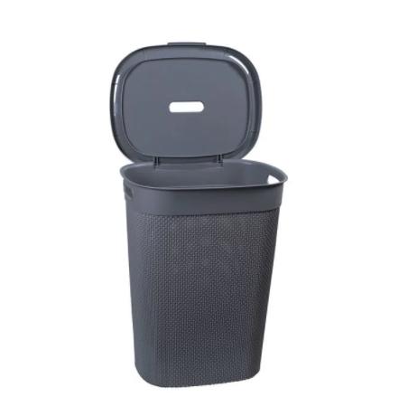 Roupeiro c/ tampa 55L Cinza concreto - Astra