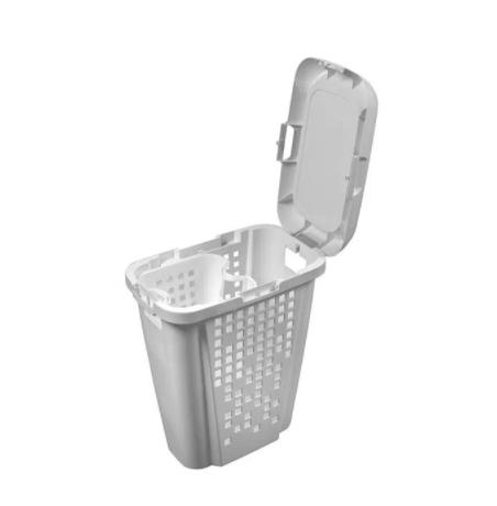 Roupeiro Telado c/ compartimento removível 45L Branco e Branco - Astra