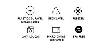 Saladeira Triangular Essential - Branco 3,5L - Coza