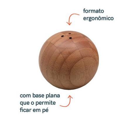 Saleiro e Pimenteiro Esférico de Bambu - Oikos