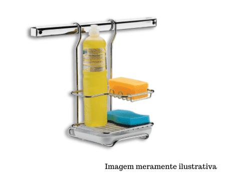 Suporte para Sabão / Detergente / Esponja - Top Pratic - Brinox