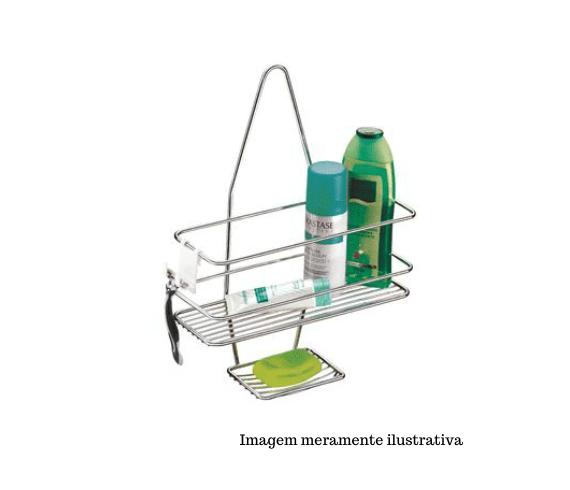 Suporte para Shampoo/Sabonete de Registro com Gancho móvel - Superiore -  Future