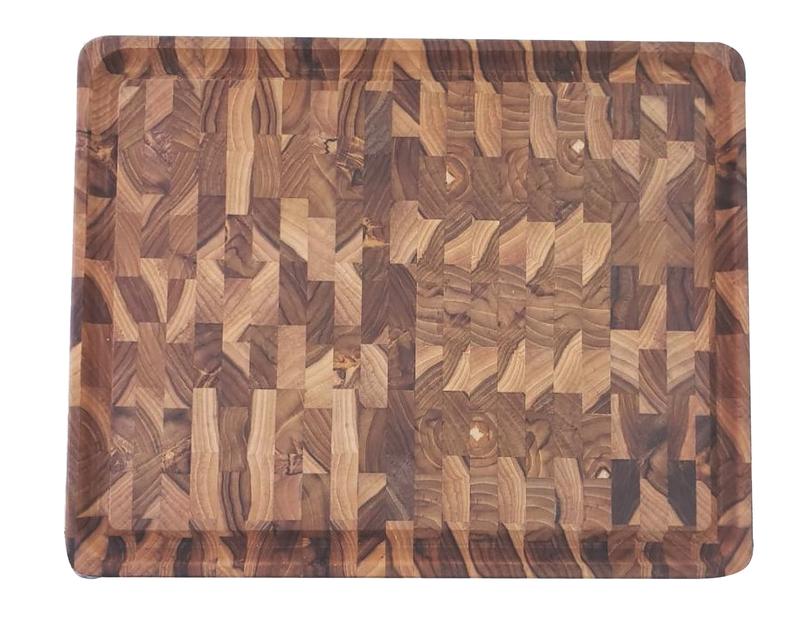 Tábua para Churrasco Retangular - Madeira Invertida Teca com Acabamento em Óleo mineral - 45x35cm - Tramontina