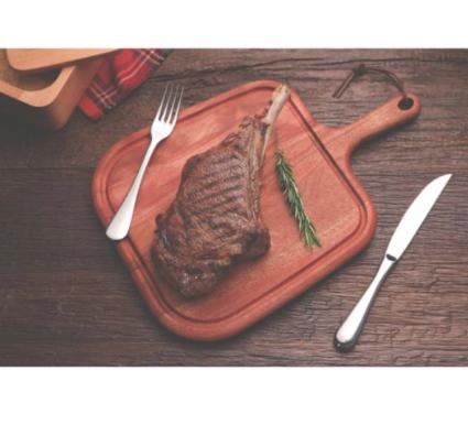 Tábua para Steak Provence com Cabo - Mogno Africano - 40x27cm - Tramontina