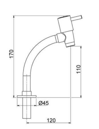 Torneira Lavatório de Mesa bica baixa - 2153 1/2 C-59 - Pérola - Kelly metais