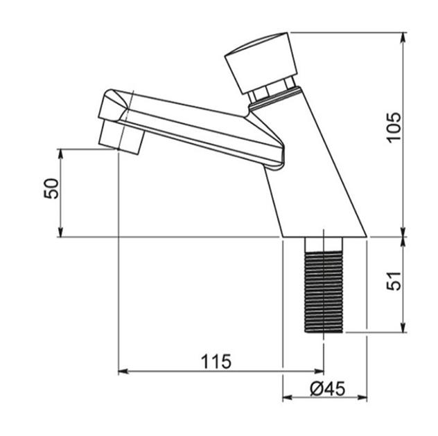 Torneira de Mesa para Lavatório com fechamento automático - 3094 LA -  KellyMatic - Kelly metais