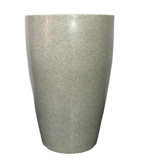 Vaso Cone Liso 55 - Cinza Granito - Vasap