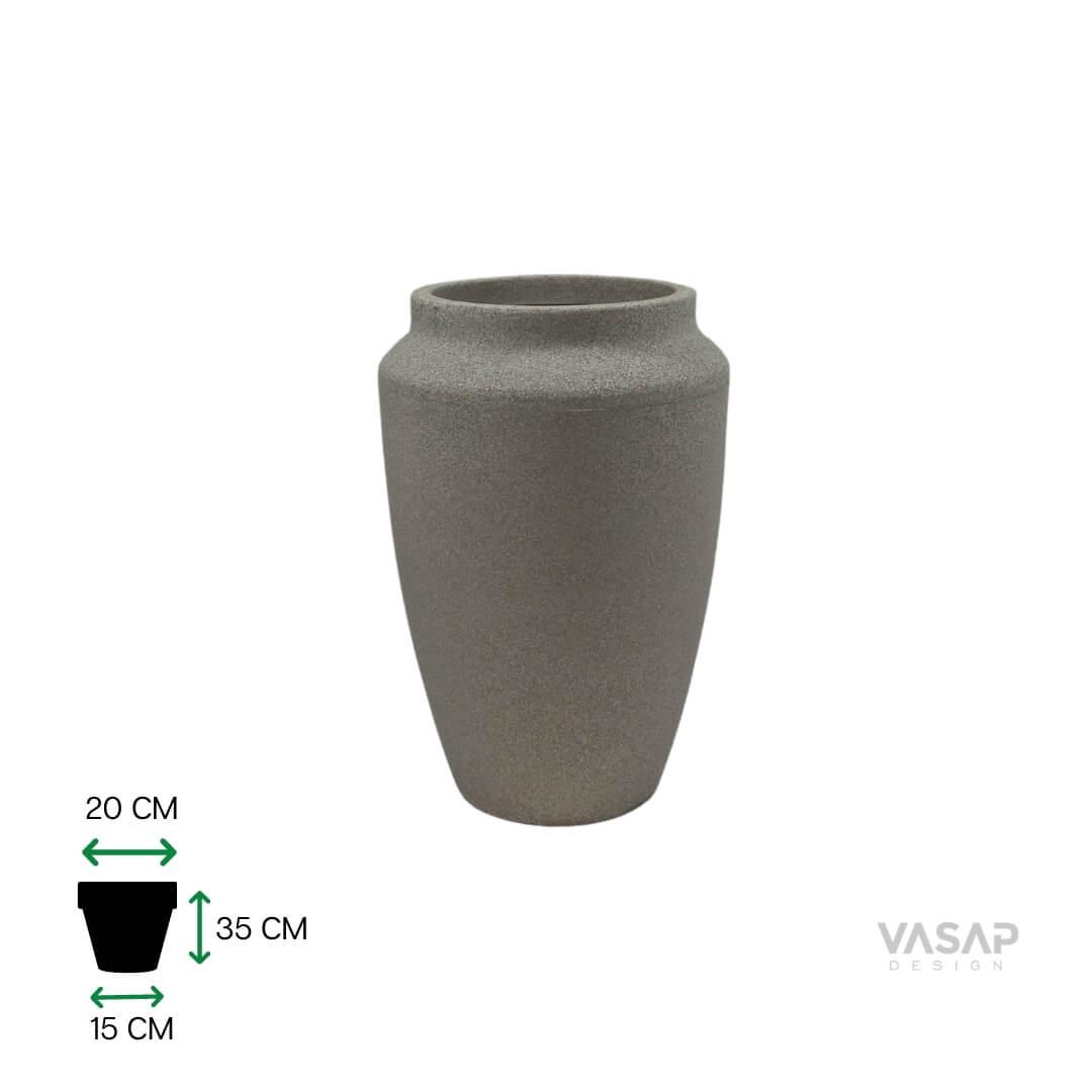 Vaso Thai 35 - Branco Mármore - Vasap