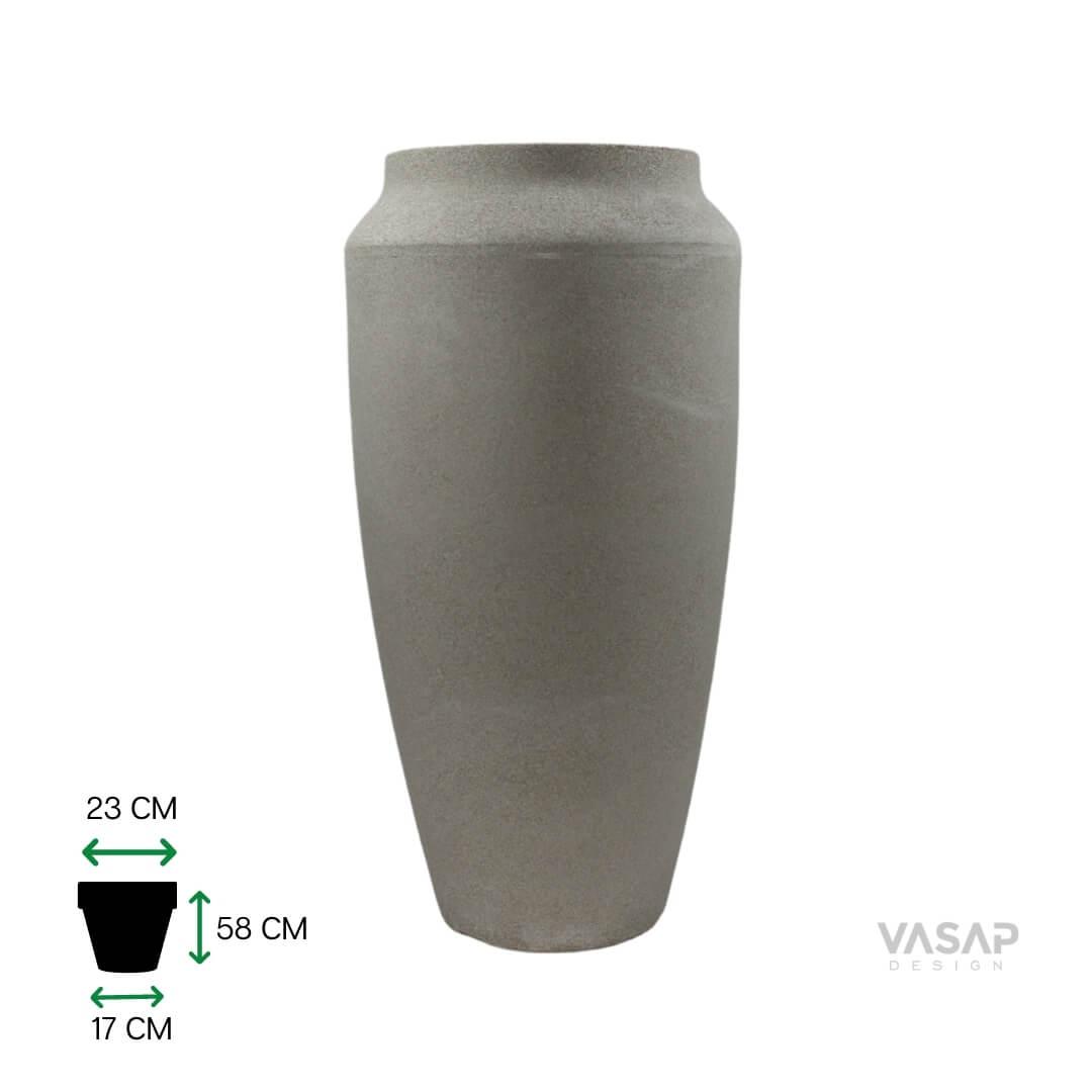 Vaso Thai 58 - Branco Mármore - Vasap
