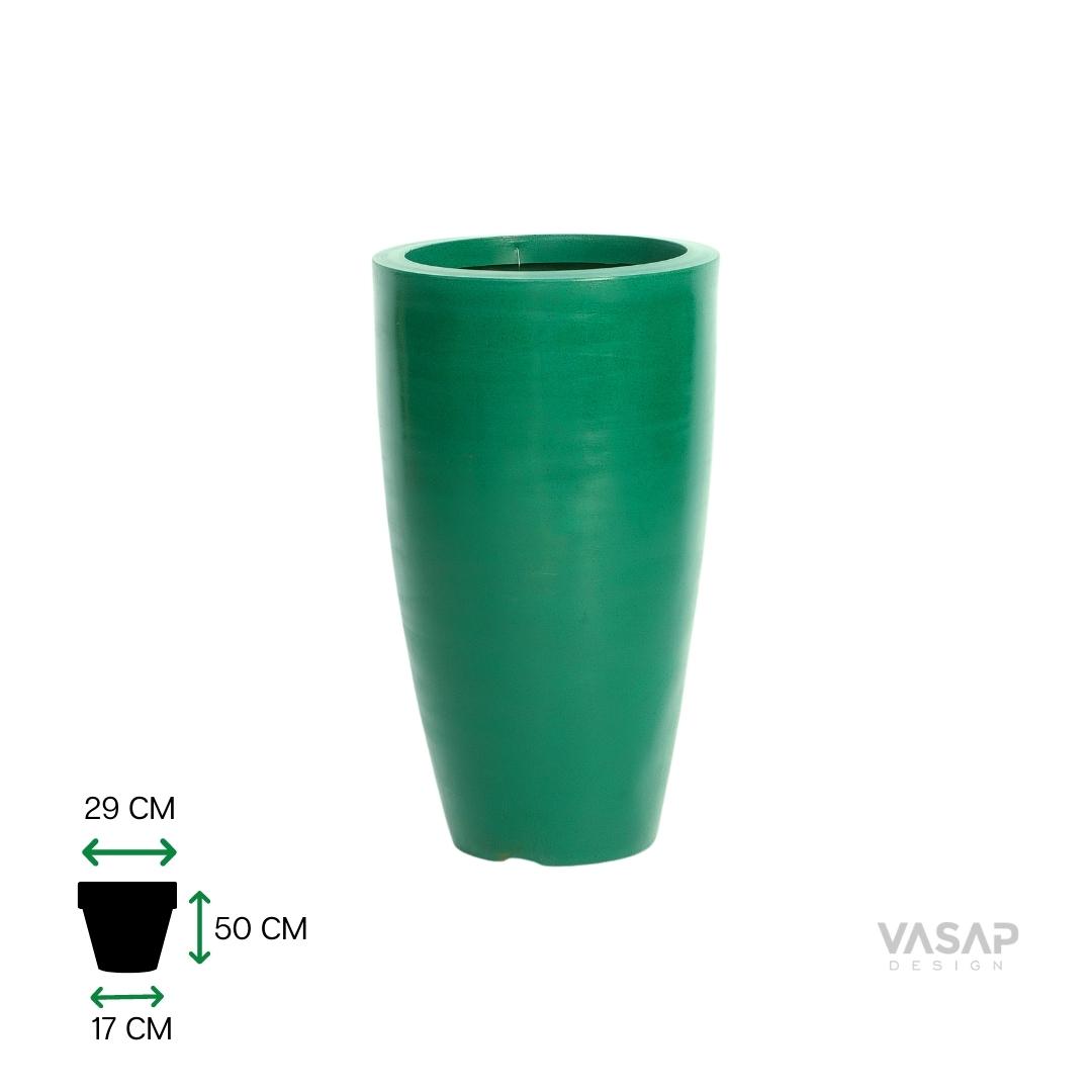 Vaso Vietnamita 50 - Verde com Brilho - Vasap