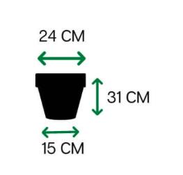 Vaso Vietnamita fosco 31 - Terracota - Vasap