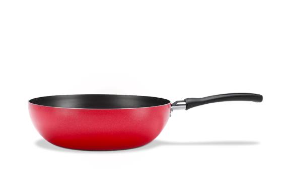 Wok com Revestimento em Antiaderente - 2,3L - Vermelho - Garlic - Brinox