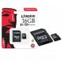 Cartão De Memória Micro Sd Kingston 16Gb Com Adaptador Original