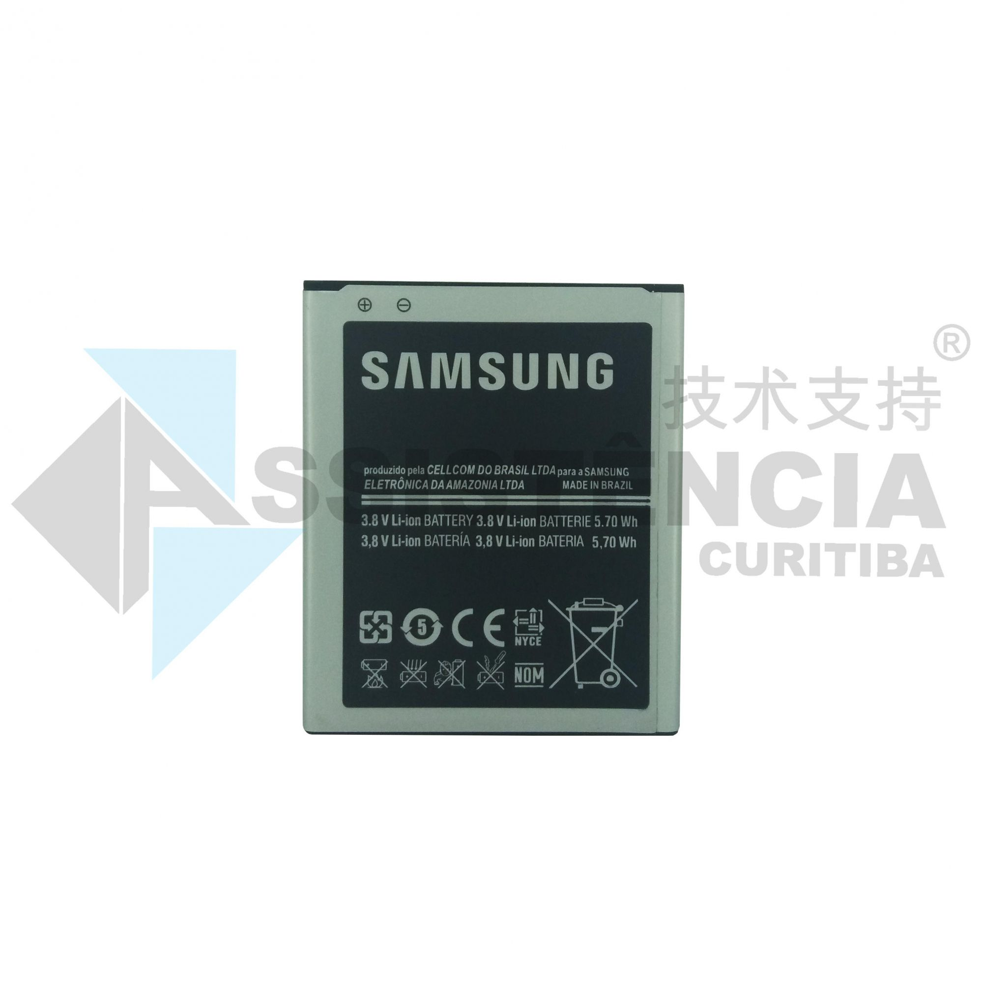 Bateria Samsung Galaxy S2 Tv 7273M Modelo B100Ae