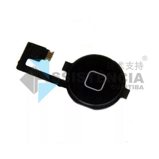 Botão Home Completo Apple Iphone 4 4S 4G Preto