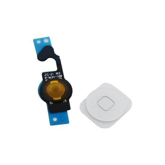 Botão Home Completo Apple Iphone 5G Branco