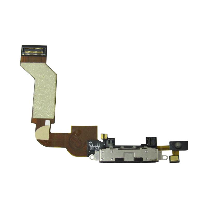 Flex Conector De Carga Apple Iphone 4S A1387 A1431 Preto