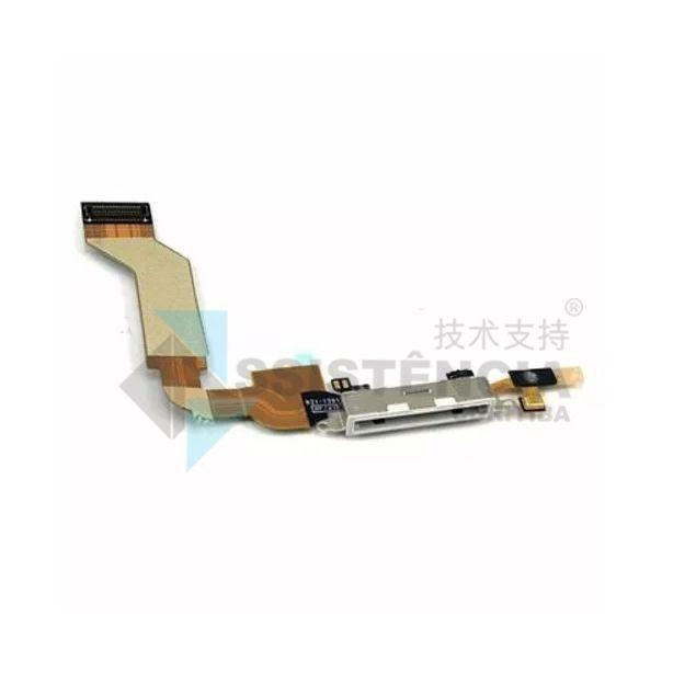 Flex Conector De Carga Apple Iphone 4S A1387 A1431 Branco