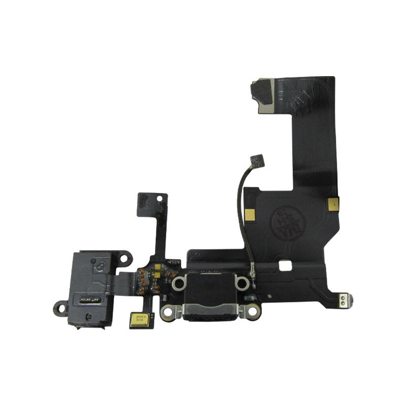 Flex Conector De Carga e Fone Apple Iphone 5G A1428 A1429 A1442 Preto