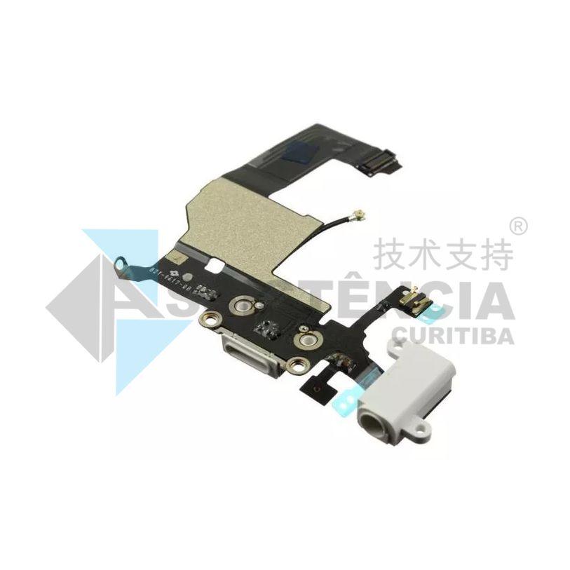 Flex Conector de Carga e Fone Apple Iphone 5G A1428 A1429 A1442 Branco