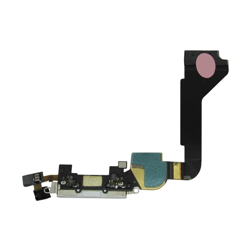 Flex Conector De Carga Iphone 4G A1332 A1349 Branco
