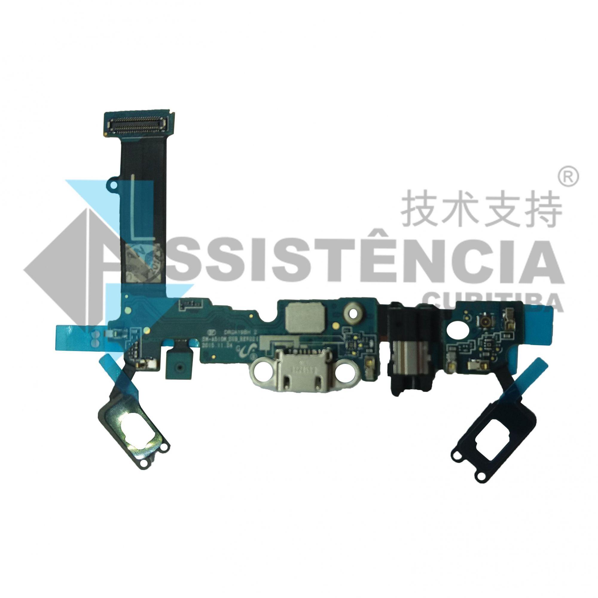 Flex Conector De Carga Samsung A510 A5 Versão L Original