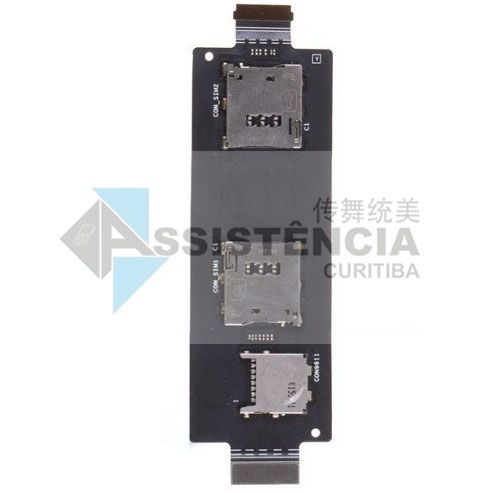 Flex Conector de Chip Slot Sim Card Asus Zenfone 2 Ze551 Ze550Ml