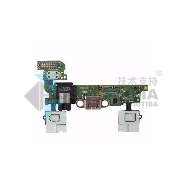 Flex Placa Conector De Carga, Fone E Home Samsung Galaxy A3 A300M