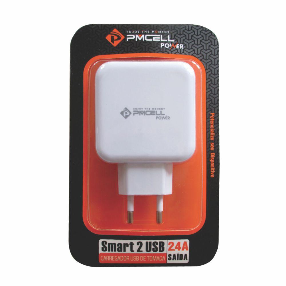Fonte Usb Power Smart Pmcell Hc-21 Branco