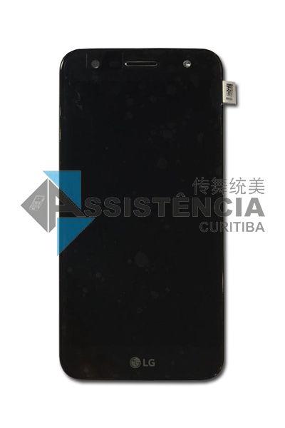 Tela Display Lg K10 Power M320 Tv C/Aro Original Preto
