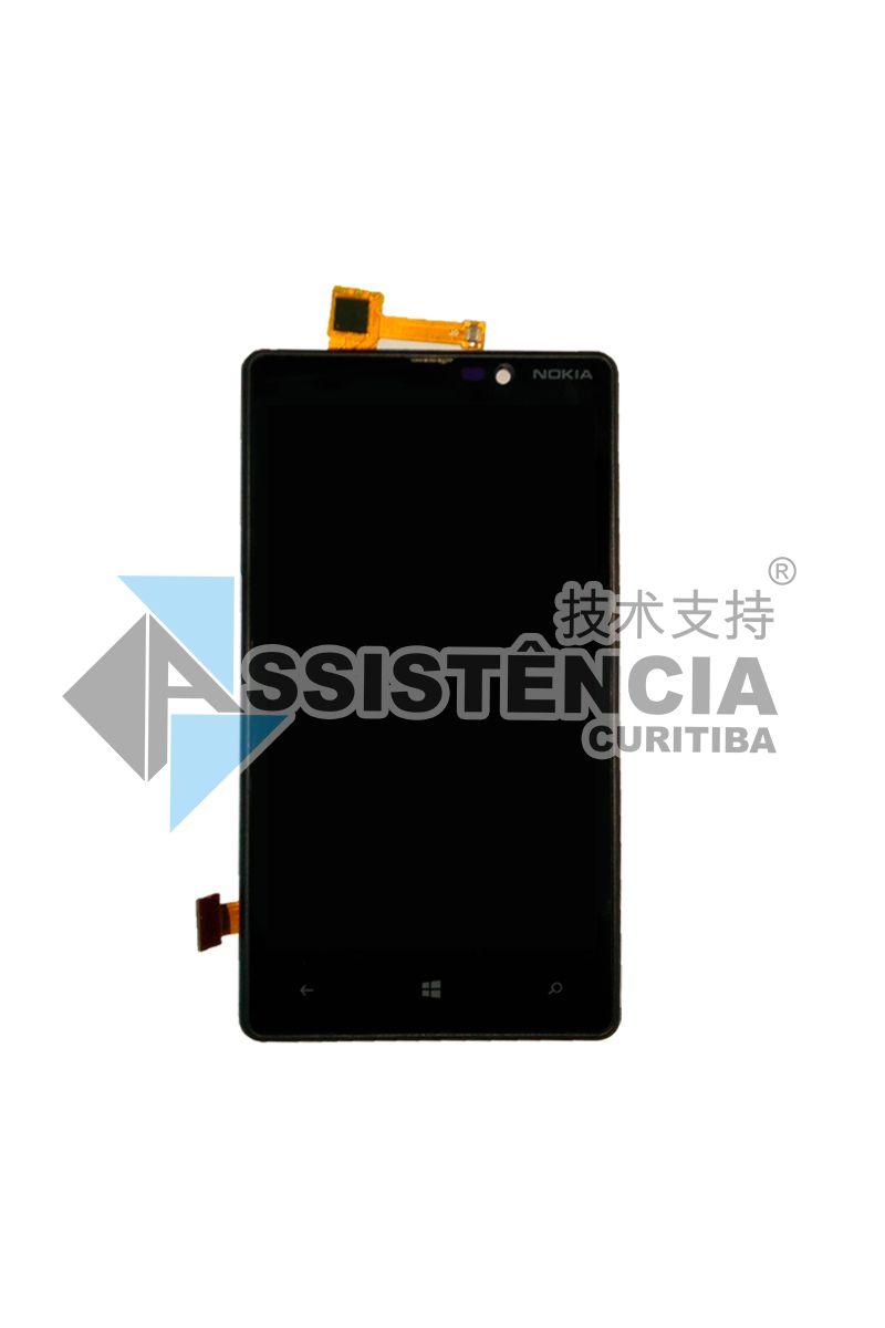 Tela Display Microsoft Nokia Lumia 820 N820 Com Aro