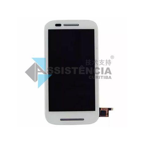 Tela Display Motorola Moto E Xt1021 Xt1022 Xt1025 Com Aro Branco