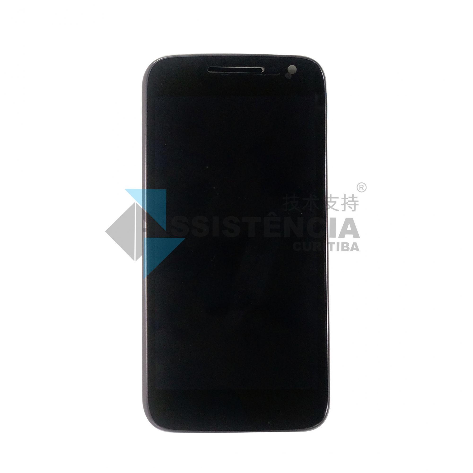 Tela Display Motorola Moto G4 Play Xt1600 Xt1603 Com Aro Preto