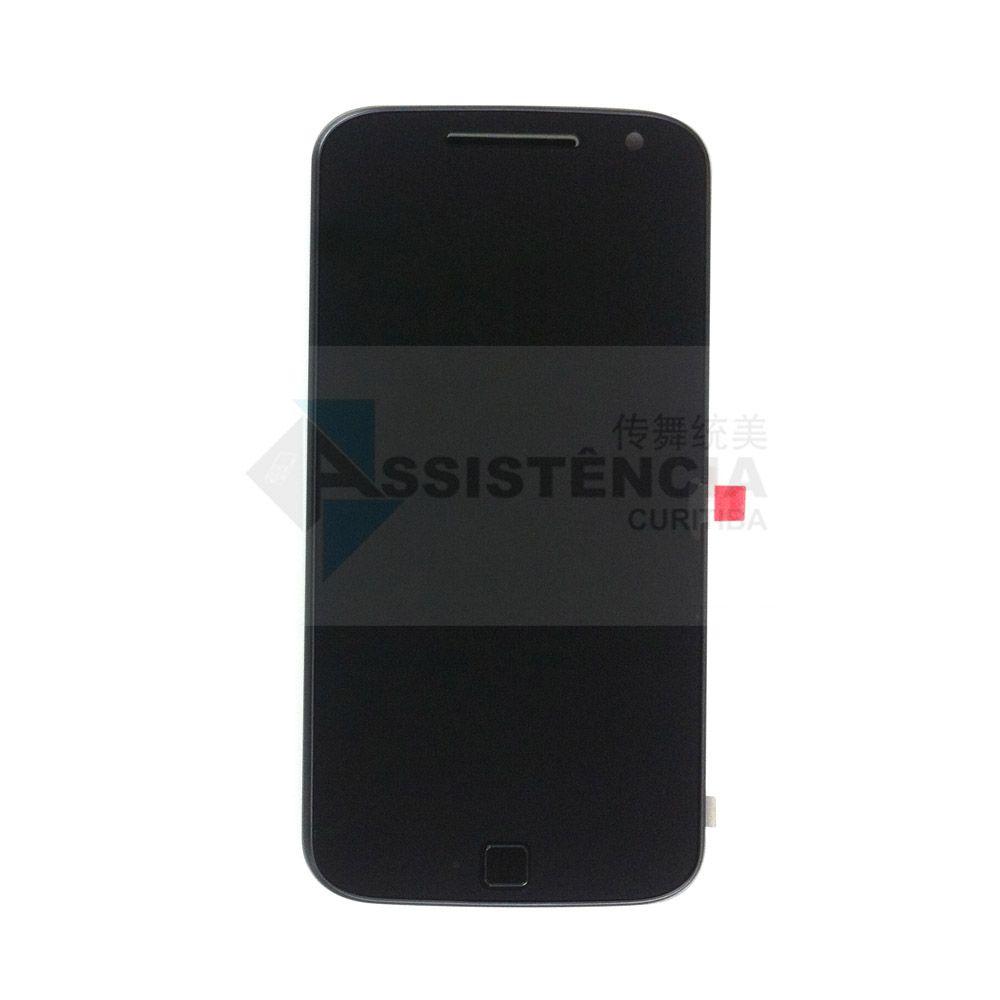 Tela Display Motorola Moto G4 Plus Xt1640 Xt1644 5.5 Com Aro Original Retirada Preto