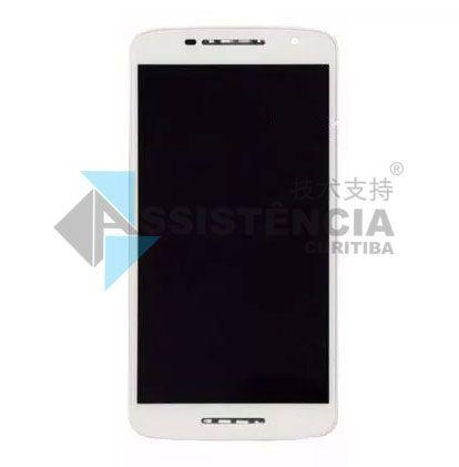 Tela Display Motorola Moto X Play Xt1563 Com Aro Branco