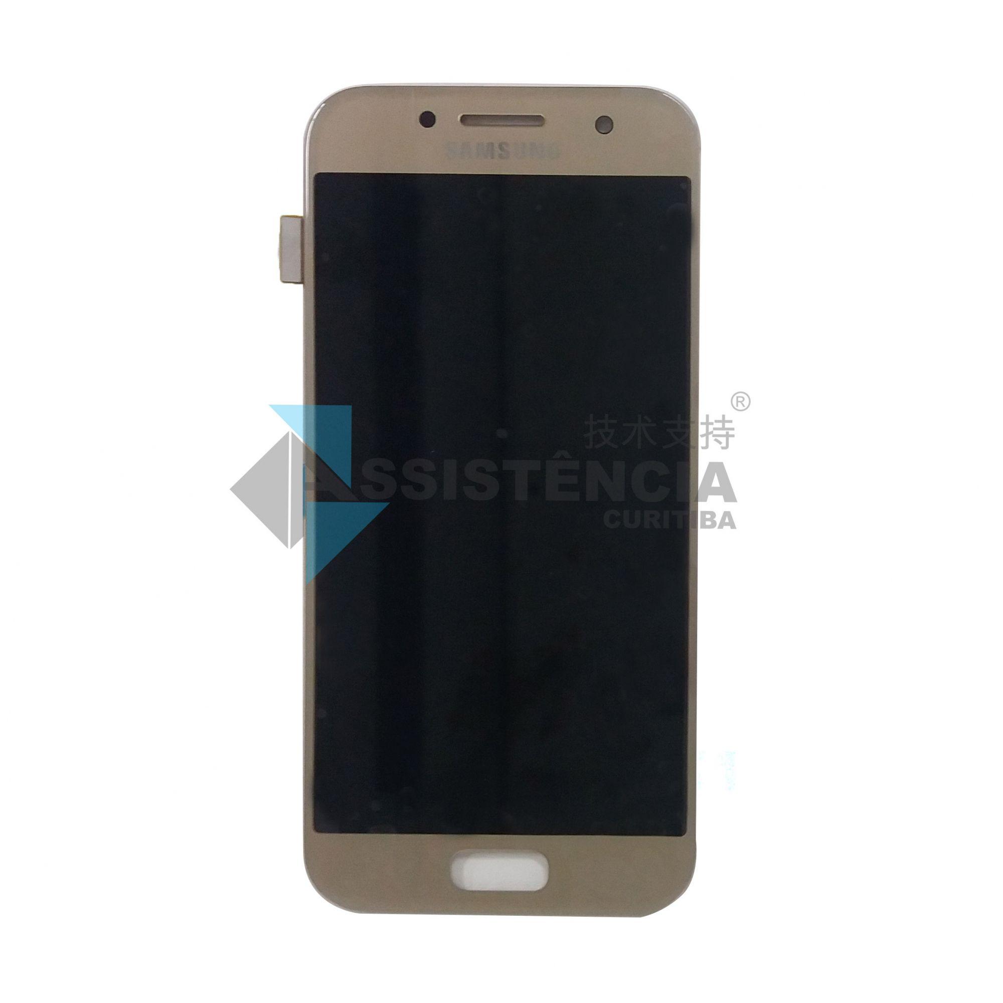 Tela Display Samsung Galaxy A3 2017 Sm A320 Original Dourado