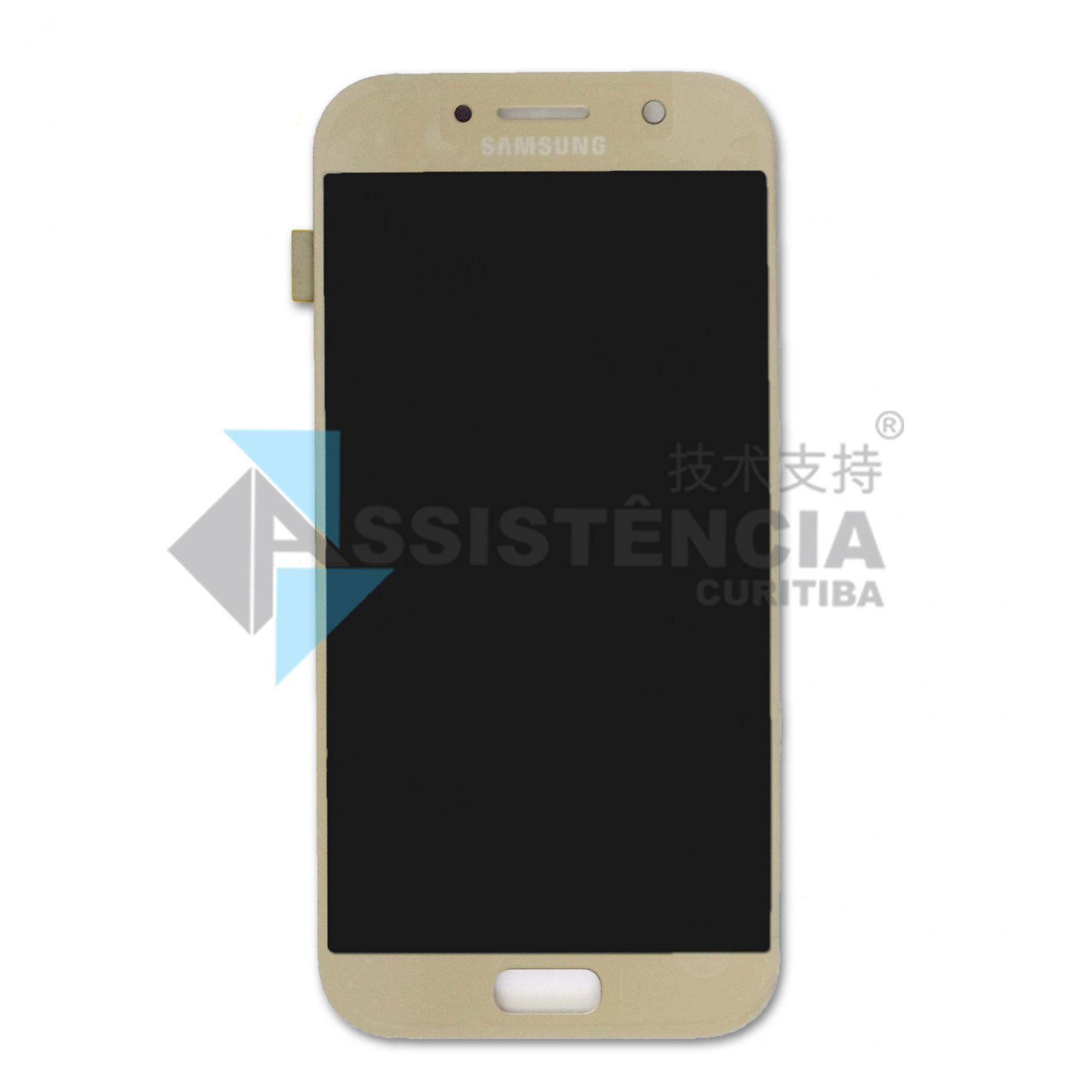Tela Display Samsung Galaxy A5 2017 Sm-A520 Original Ch Dourado