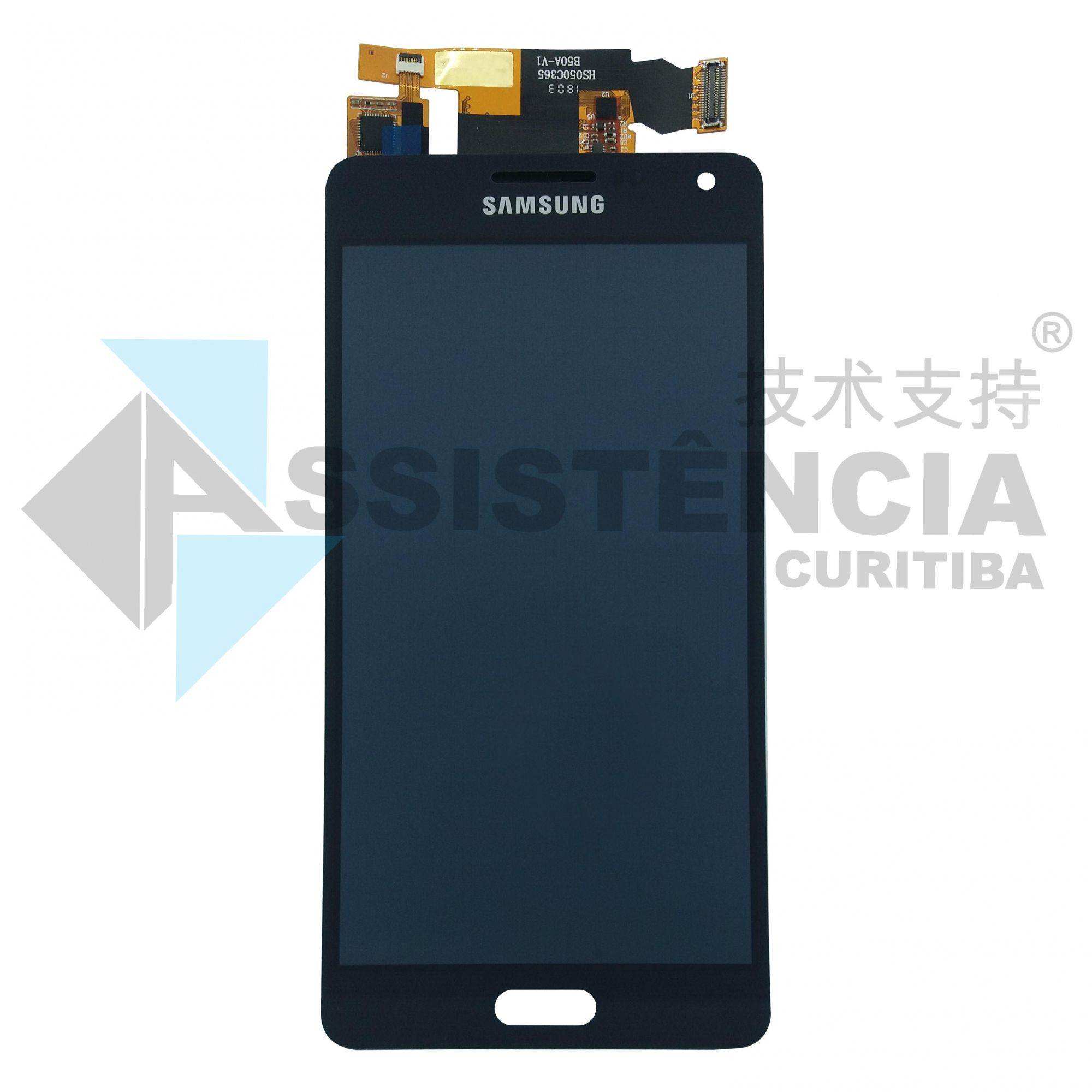 Tela Display Samsung Galaxy A5 A500 Com Brilho Preto