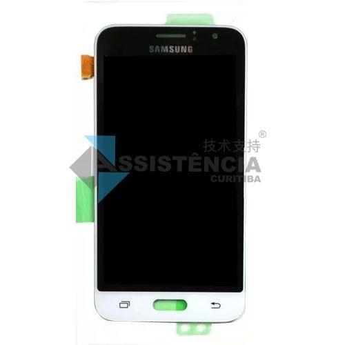 Tela Display Samsung Galaxy J1 2016 J120 Com Brilho Branco