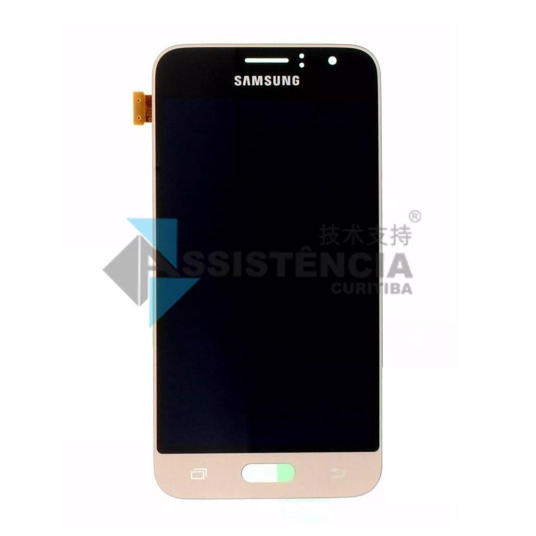 Tela Display Samsung Galaxy J1 2016 J120 Com Brilho Dourado