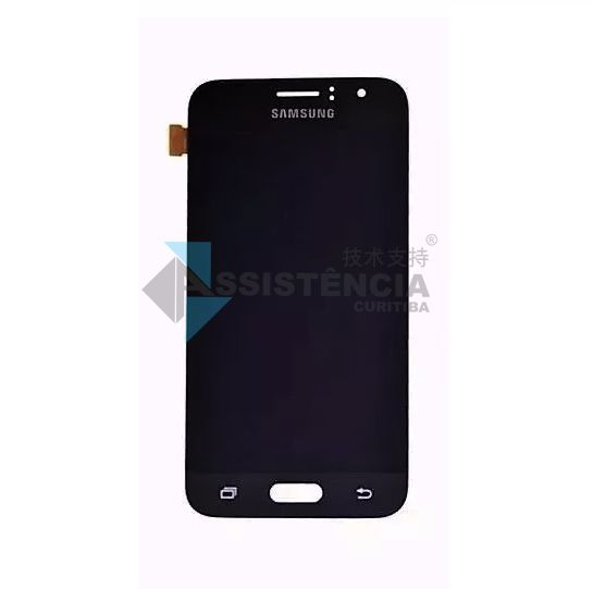 Tela Display Samsung Galaxy J1 2016 J120 Com Brilho Preto