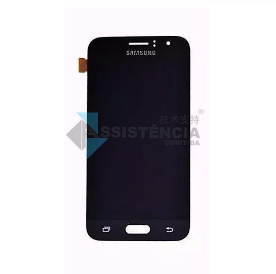 Tela Display Samsung Galaxy J1 2016 J120 Com Brilho Preto
