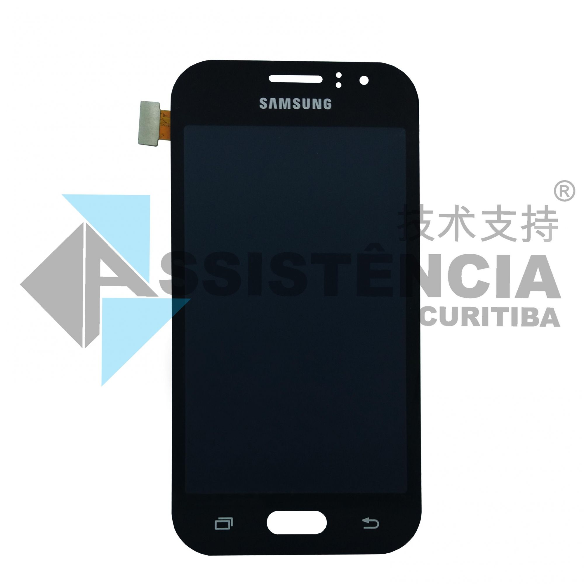 Tela Display Samsung Galaxy J1 Ace J110 Com Brilho Preto