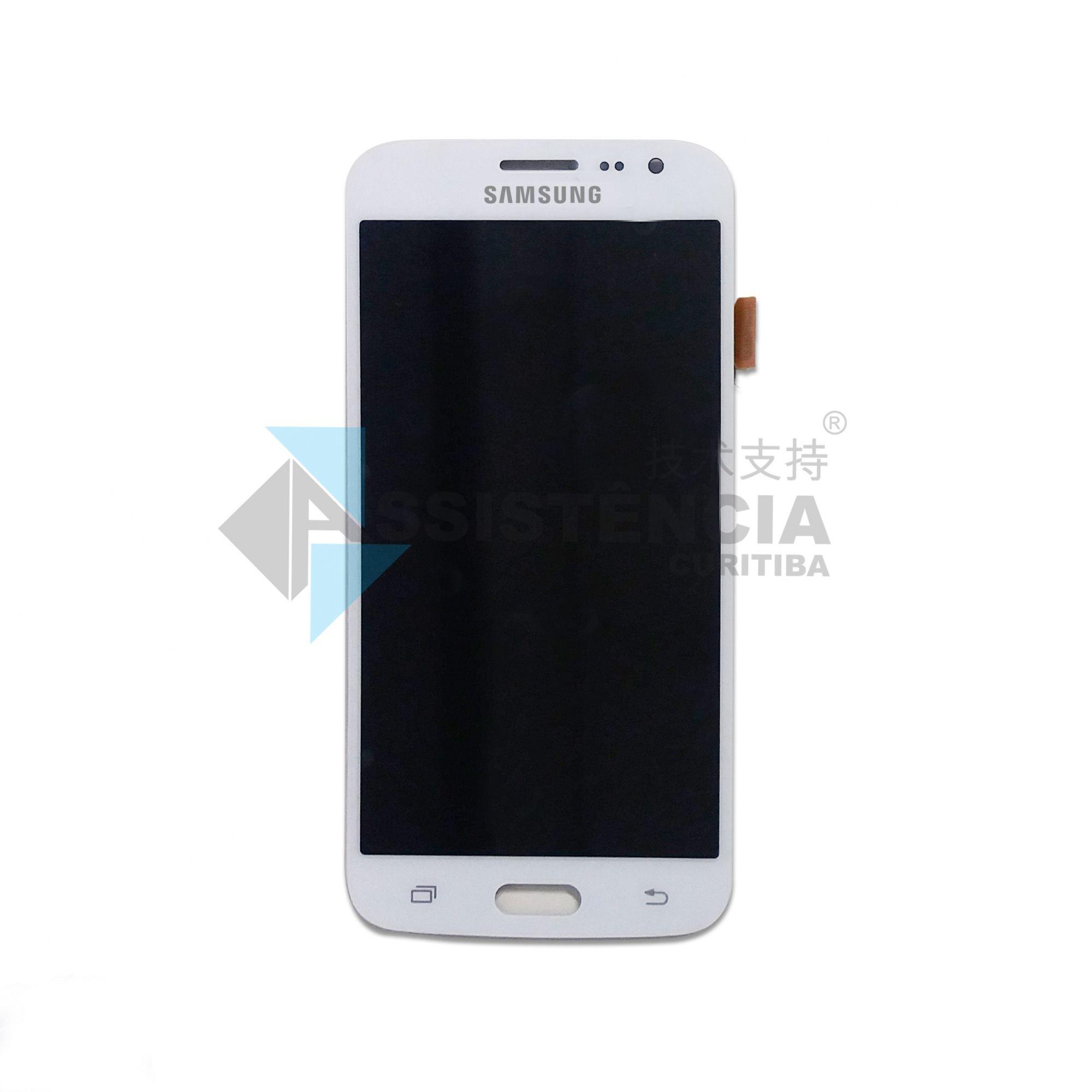 Tela Display Samsung Galaxy J2 2016 J210 Sm-J210 Com Brilho Branco
