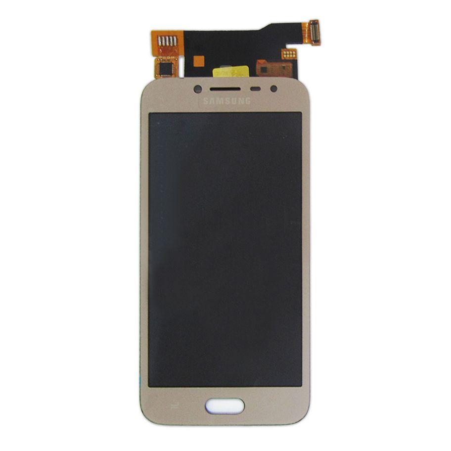 Tela Display Samsung Galaxy J2 Pro J250 Com Brilho Dourado