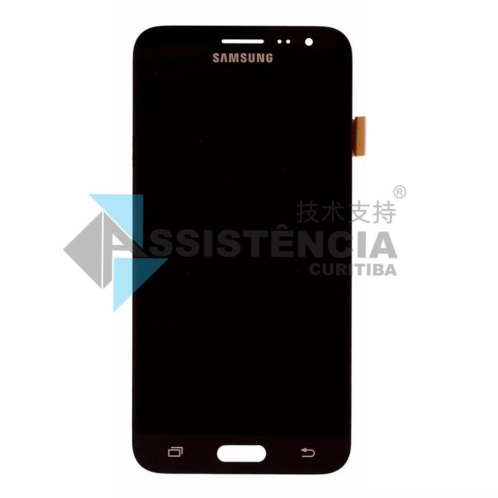 Tela Display Samsung Galaxy J3 J320 Sm-J320 2016 / J300 Sm-J300 Com Brilho Preto